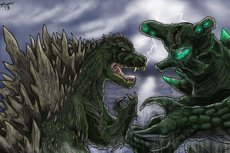 Gojira vs Slattern by kaijukid