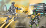Mechagodzilla vs Dragonzord....ready, FIGHT!