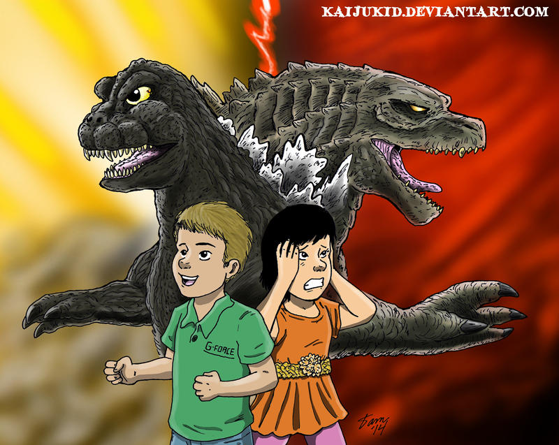 The Defender and the Destroyer by kaijukid