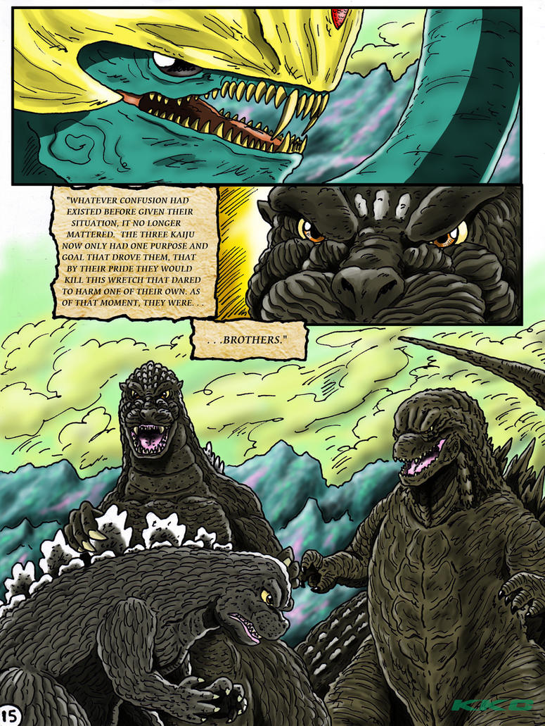 Godzilla: Kings and Brothers, Page #15 by kaijukid
