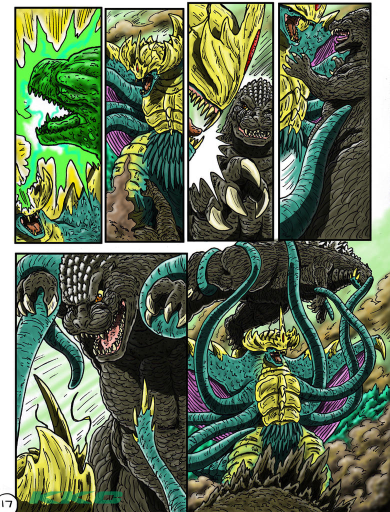 Godzilla: Kings and Brothers, Page #17 by kaijukid