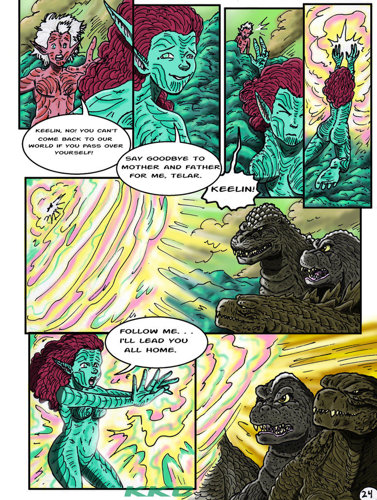 Godzilla: Kings and Brothers, Page #24 by kaijukid