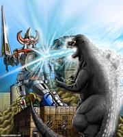 Godzilla vs. The Megazord, Commission by KaijuKid