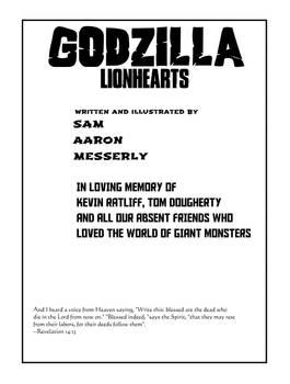 Godzilla Lionhearts Interior Page