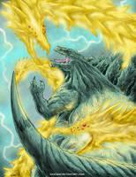 Godzilla Earth vs Anime Ghidorah by KaijuKid
