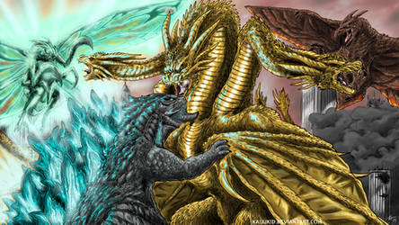 Battling For Dominance, Commission by KaijuKid