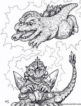 Kaiju Coloring Book: Chibi Spacegodzilla Owns