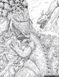 Kaiju Coloring Book: Biollante Final Battle