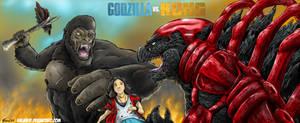 Godzilla vs Kong ala Playmates