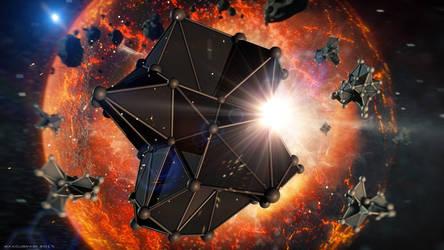 Plexus in the space by maxludok
