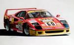 1989 Ferrari F40 - Italia Autosport livery