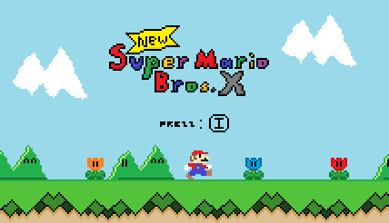 New Super Mario Bros X: The Title Screen by ShyGamer108 on