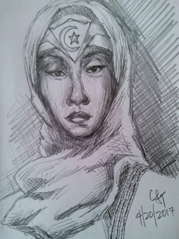BLACK WONDER WOMAN by chrislt83