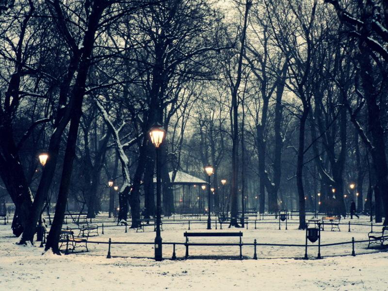 december evening by snusmumrikenn