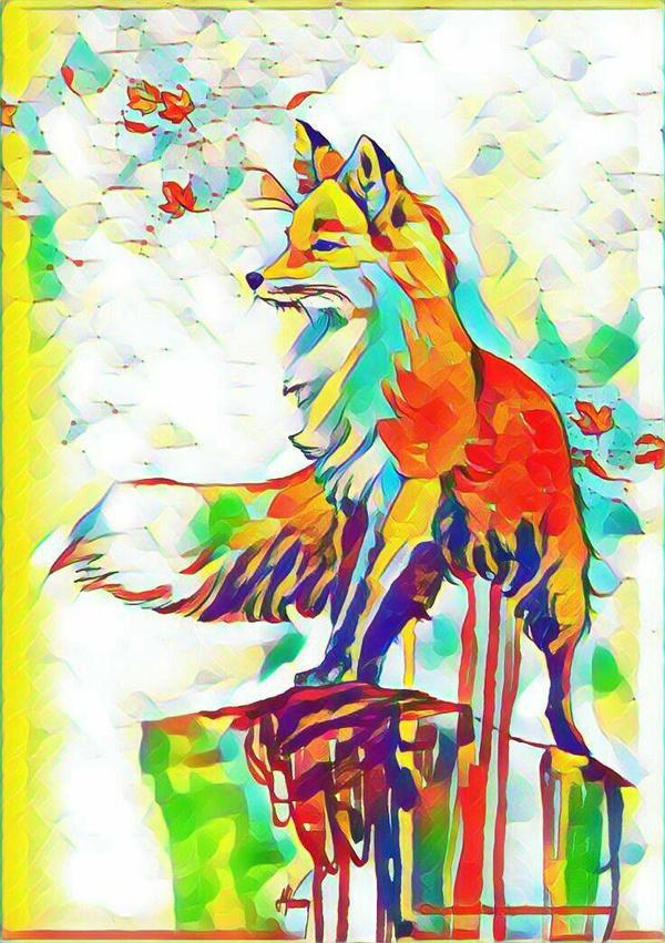 Rainbow Fox by Mossstar109