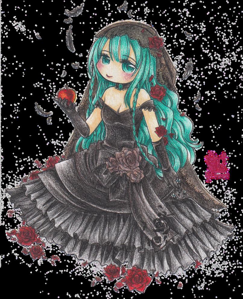 Black Vow: Miku Wedding Dress by BB-Schwarz