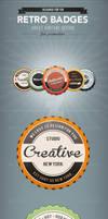 5 Glossy Retro Badges