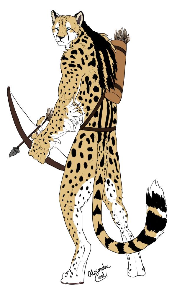 Anthro Cheetah