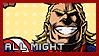All Might - Stamp by Replica-sensei