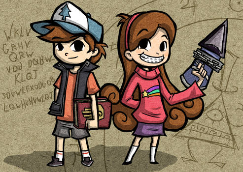 Wind Waker Style Dipper and Mabel