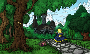 Art Test - Sir Dufius Web Comic Background Style
