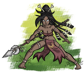 Muna the Huntress - Action Pose