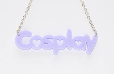 Cosplay necklace - Outcast Dusty Purple by DustbunnyCosplay