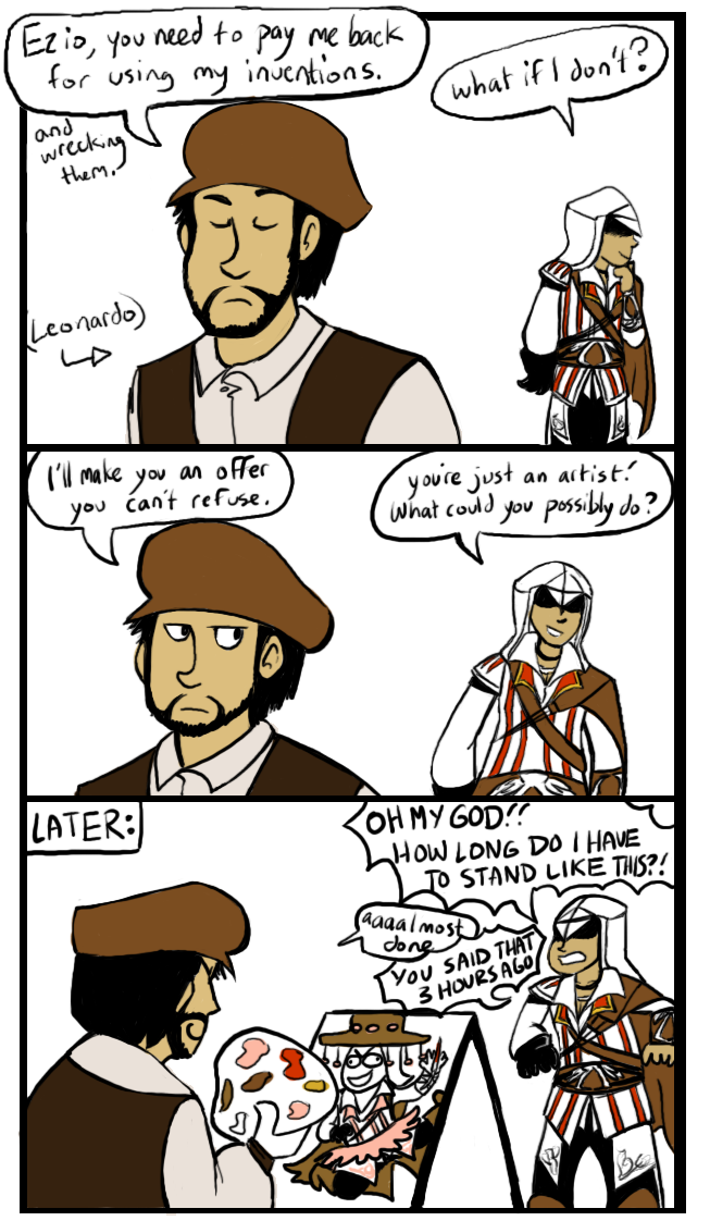 Assassins Creed-Evil Leonardo by iously