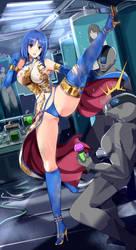hitomi fighting by sasana-u