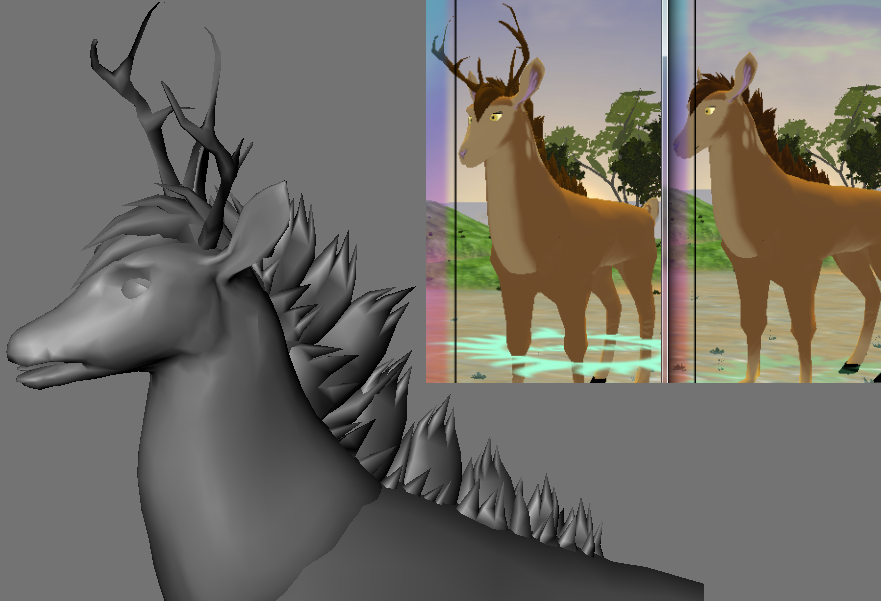 Last Moon (MMORPG) Deer Mane/Tuft by RakshaWw