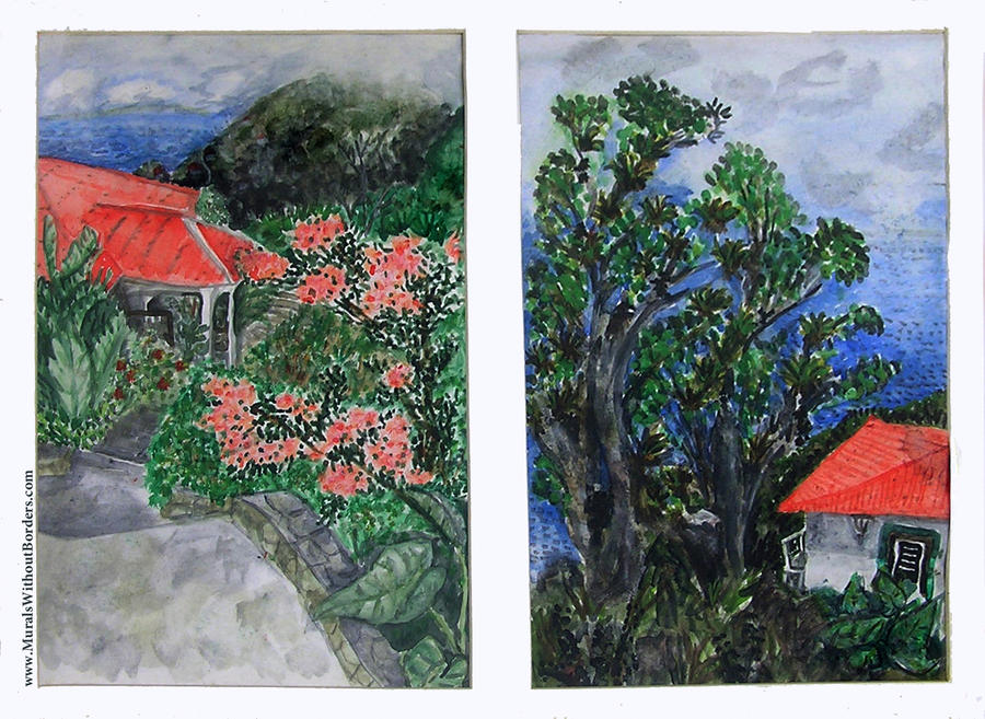 Saba Bungalows by MuralsWithoutBorders