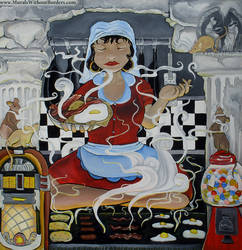 Delphi's Diner: A Greecy Spoon by MuralsWithoutBorders
