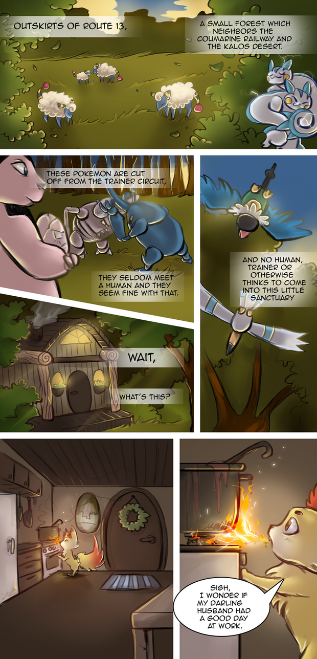 Cain and Mabel - chapter 1 pg 1 by SilverVanadis