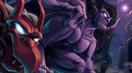 Gargoyles by arashicat