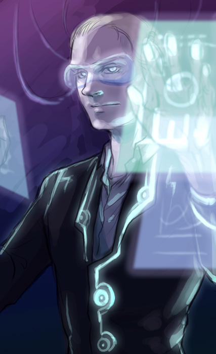 One painting each day --Jarvis from Avengers by arashicat
