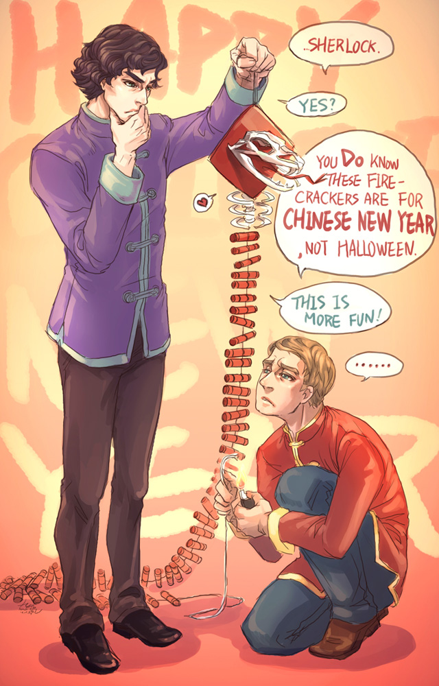 Chinese version Sherlock, happy Chinese new year! by arashicat
