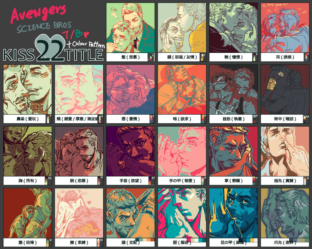 22 kisses -ALL by arashicat