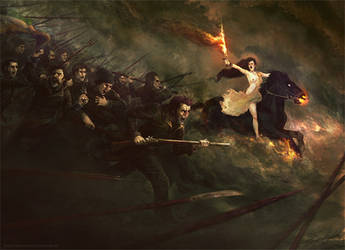 La charge des patriotes by Vorace-Art