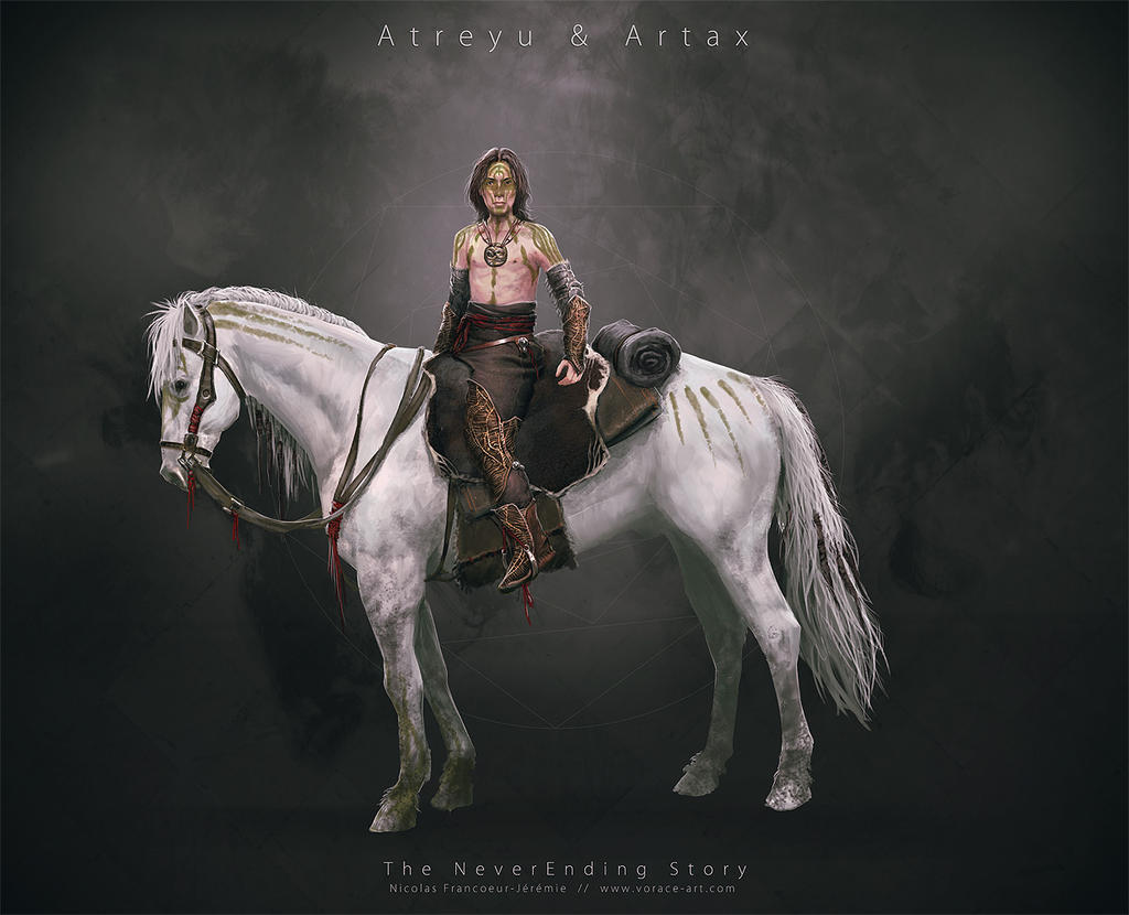 NeverEnding Story Redesign // Atreyu - Artax by Vorace-Art