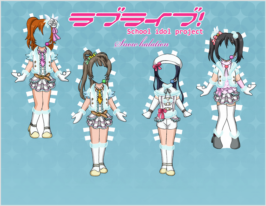 Love Live! Paper Dolls - Snow Halation 1 by EternallyOptimistic