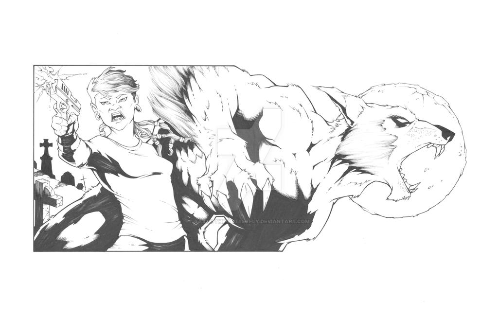 Beck and Caul Trade Paperback Exterior Art - Inks by Taste-the-Butterfly