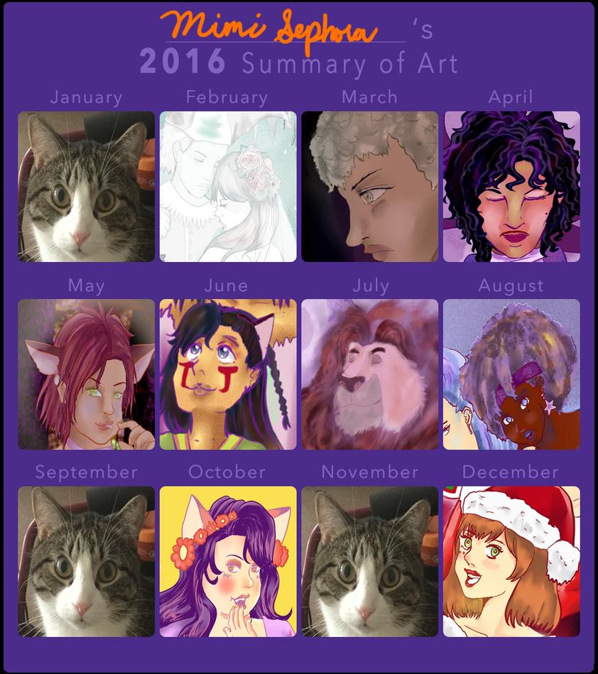 2016 Summary of Art by MimiSephora