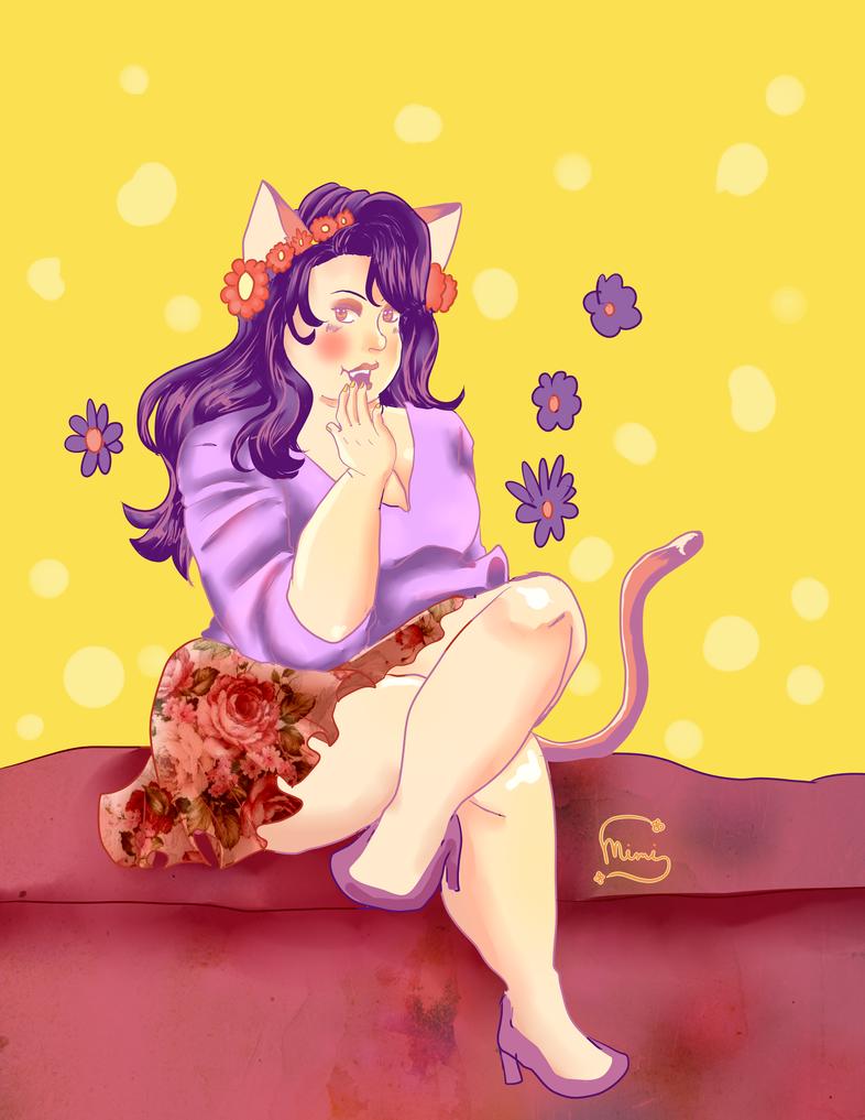 Cutie Saturday Chubby Catgirl by MimiSephora