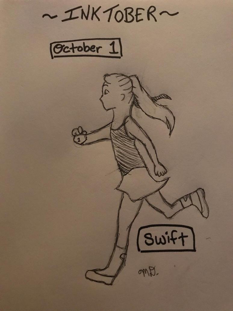 Inktober- October 1st Swift by Princ3ssWolfi3