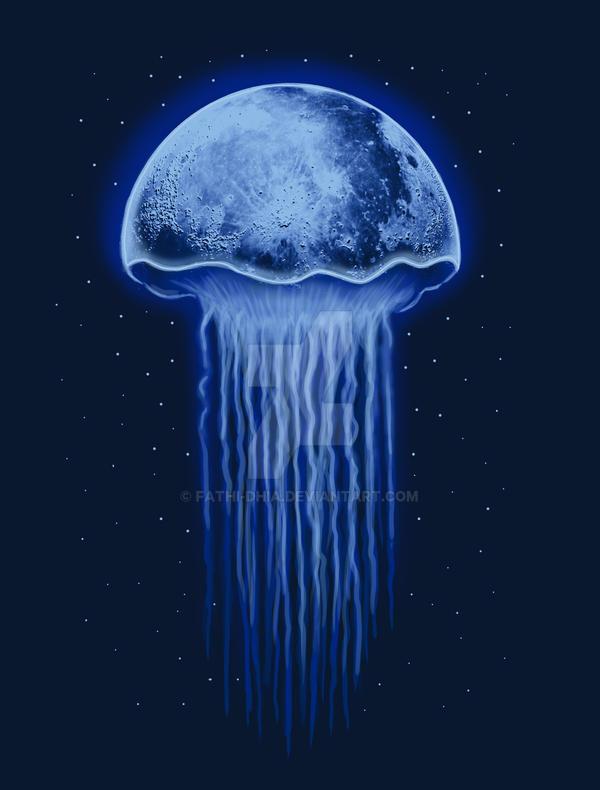 Moon Jellyfish by fathi-dhia