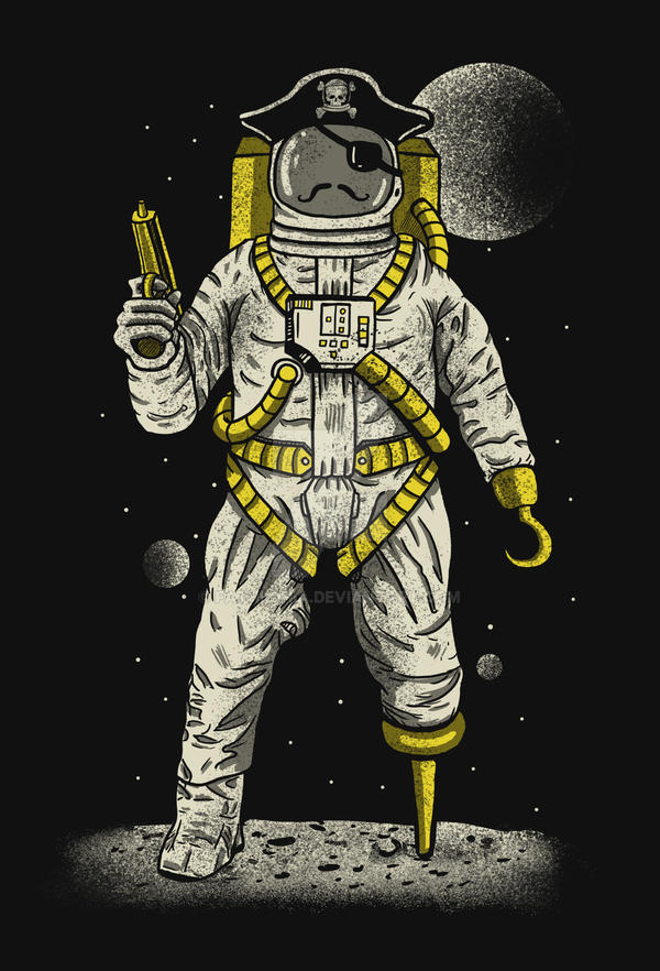 Astronaut Pirate by fathi-dhia