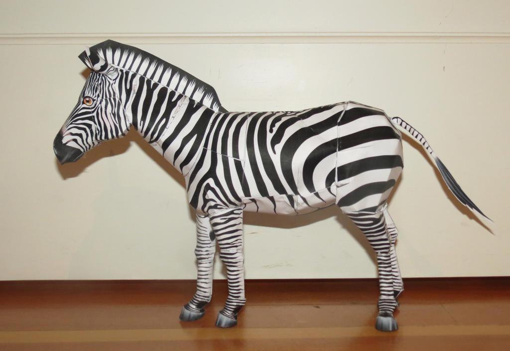 3d zebra papercraft by lilcrafter9 on deviantart