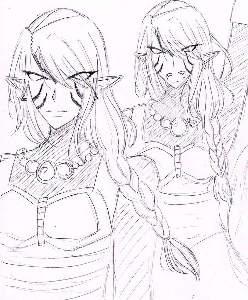 Fierce Deity Zelda by loveMadrigal