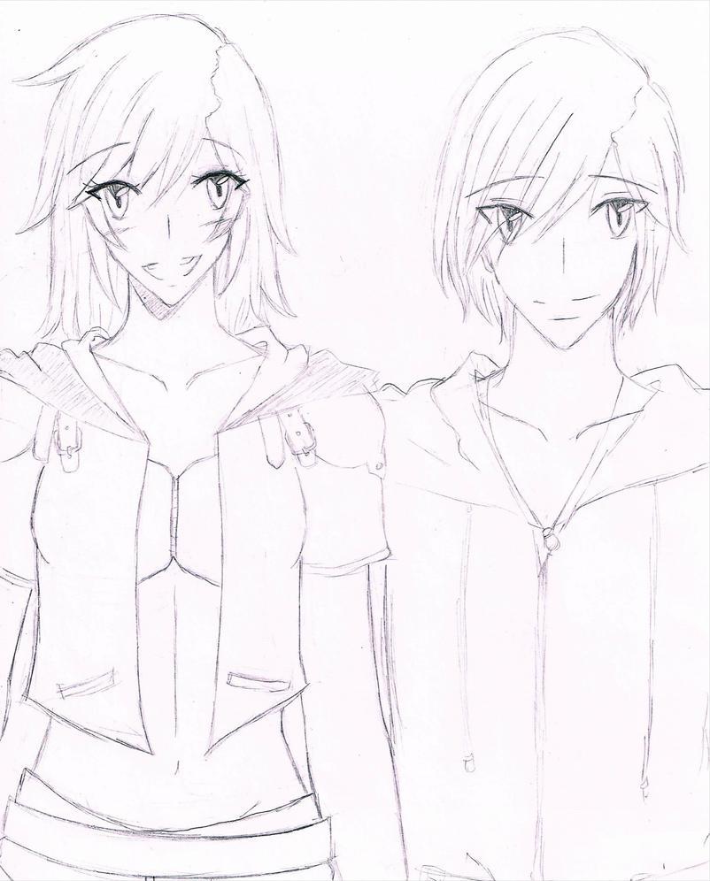 Genderbend Sora and Kairi by loveMadrigal
