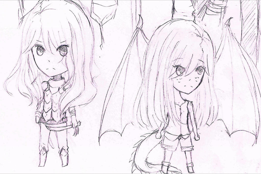 Chibi Alta and Nia by loveMadrigal